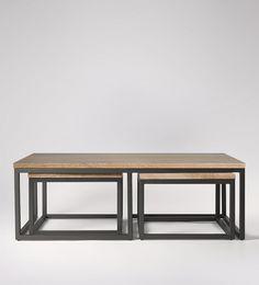 Sullivan, Coffee Table Set, Stained Mango Wood