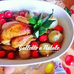 In Cucina con Mamma Agnese: Galletto al Forno con Cipolline caramellate Pomodori Pachino al forno su Germogli di Soia 🎅