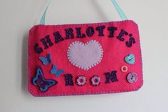 Customised door sign by ChickFromLeeds on Etsy
