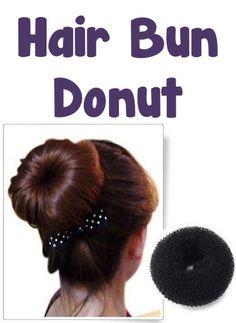 Hair Bun Donut: $1.85 + FREE Shipping!!  {+ an Easy Heatless Curls tutorial!}  #hairstyles