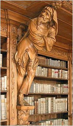 Library carving - monastery of Waldsassen, Bavaria, Germany Tree Carving, Wood Creations, Wooden Art, Wood Sculpture, Tree Art, Oeuvre D'art, Wood Crafts, Wood Projects, Sculpting