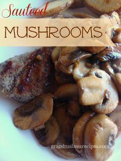 // // There's almost nothing better on top of a juicy grilled steak than sauteed mushrooms. And you don't have to be a gourmet chef to dress up your meat. These sauteed mushrooms are a flavorful . Side Dish Recipes, Vegetable Recipes, Dinner Recipes, Great Recipes, Favorite Recipes, Easy Recipes, Mushroom Dish, Sauteed Mushrooms, Mushrooms Recipes