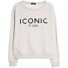 Mango Sequin Sweatshirt, Light Pastel Grey (58 BRL) ❤ liked on Polyvore featuring tops, hoodies, sweatshirts, sweaters, shirts, sweatshirt, cotton shirts, long sleeve sweatshirt, grey long sleeve shirt and long sleeve tops