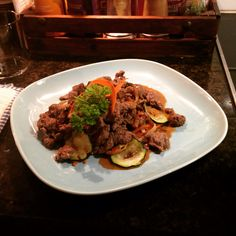 Steak with vegtables