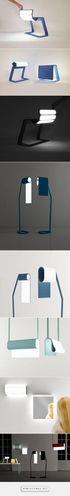 bina baitels OLED recto-verso lamp collection at milan design week 2015 - created via http://pinthemall.net