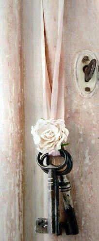 Shabby chic ….hanging keys