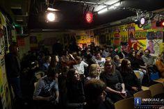 Jazz Slam Graz (no. 7) im Café Stockwerk am 17. Februar 2016     Zwei Formen der Poesie, improvisierter Jazz und das Lyrik-Format #Poetry #Slam, vereinten sich zum siebten Mal auf der Bühne vom Café #Stockwerk zum Jazz Slam Graz. Sechs Poetinnen und Poeten trafen sich mit der Band Organic Funkadelic im symbiotischen, diesmal nicht-kompetitiven Dichtkunstspektakel.