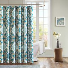 Mizone Tripolis Microfiber Shower Curtain   Overstock.com Shopping - The Best Deals on Shower Curtains