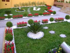 Garden  Beautiful Pebble Garden Ideas With White Pebble Stones And Colorful Flower Plant And Green Grass Combined With Pathway Incredible Pebble Garden Ideas for Beautiful and Amazing Garden