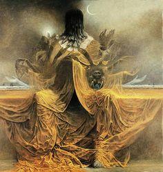 Zdzislaw Beksinski Gallery: How and what Beksinski painted in 1979?