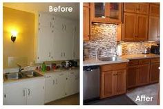 Superieur Kitchen Cabinet Refinishing Job Before And After:)