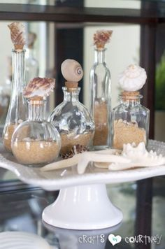 DIY Ideas With Sea Shells - Easy-to Make Decorative Seashell Bottles - Best Cute Sea Shell Crafts for Adults and Kids - Easy Beach House Decor Ideas With Sand and Large Shell Art - Wall Decor and Home, Bedroom and Bath - Cheap DIY Projects Make Awesome Homemade Gifts http://diyjoy.com/diy-ideas-sea-shells