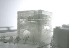 Architectural Model - Bjarke Ingels Group (BIG), TEK Center, Taipei, Taiwan, 2010