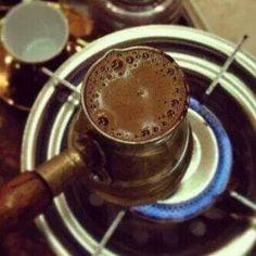 Turkish coffee with cardamom.