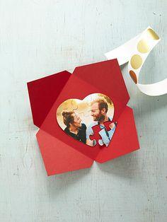 Custom Puzzle Valentines card