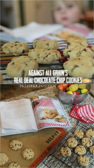 Against All Grain Real Deal Chocolate Chip Cookies. Cook for 7 min when using small cookie dough scoop