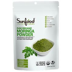Raw Organic Moringa Powder (8 Ounces Bag)  by Sunfood Superfoods at the Vitamin Shoppe