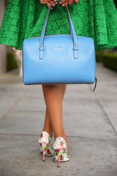 Wearing: Alice + Oliva skirt/ Kate Spade purse/ Joie jacket/ Dolce & Gabbana pumps.