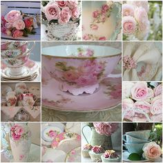 I love old fashioned pink roses. Not perfect just beautiful Vintage Cafe, Vintage Shabby Chic, Vintage Flowers, Buenos Dias Quotes, Beautiful Collage, Coming Up Roses, All Nature, China Tea Cups, My Cup Of Tea