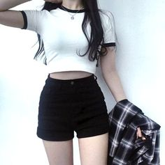Korean fashion styles 819232988450803742 - Latest Korean Women's clothes Hacks 2944442262 – – Source by Casual Outfits For Teens, Edgy Outfits, Teen Fashion Outfits, Mode Outfits, Grunge Outfits, Cute Fashion, Fashion Dresses, Korean Outfits Cute, Trendy Fashion
