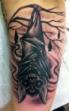 Bat tattoo Designs: The Horror Bat Tattoo Meaning And Designs ~ tattooeve.com Tattoo Design Inspiration