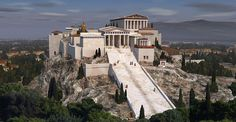 Acropolis reconstructed 3D model-nice color reproductions