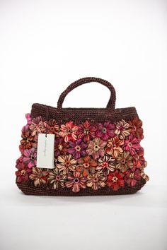 Sophie Digard   Floral Crochet Medium Raffia Bag    Pomegranate Crochet Flowers, Pomegranate, Appreciation, Bubbles, Textiles, The Incredibles, Construction, Deep, Shoulder Bag