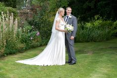 The bride wore a wedding dress by Halfpenny London | British bridal fashion by Kate Halfpenny