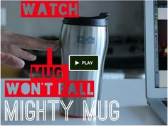 Save your work from those tragic spills with this Mighty Mug that grips onto any surface when accidentally knocked. #gadgets #tech