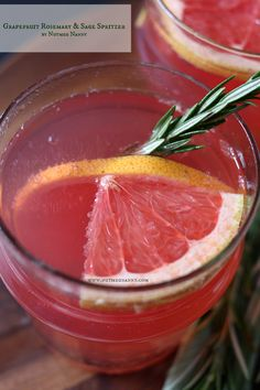 Grapefruit Rosemary and Sage Spritzer {Mocktail}