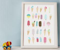 Happy Paper | Poster icecream