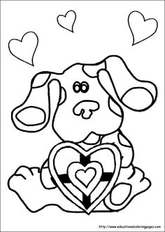 image result for coloring pages for kids blues clues