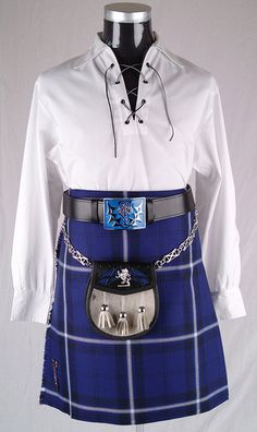 Full Scottish Kilt Outfit - Saltire Kilt HIghland Dress by Hobo!, via Flickr