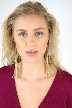 Ettika Stars Fall Earrings in Gold