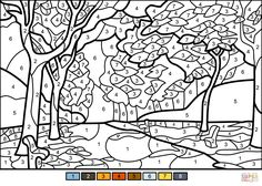Fall Trees Color by Number from Color by Number Worksheets category. Select from 31983 printable crafts of cartoons, nature, animals, Bible and many more. Fall Coloring Sheets, Free Halloween Coloring Pages, Fall Coloring Pages, Printable Adult Coloring Pages, Flower Coloring Pages, Coloring Books, Adult Color By Number, Color By Number Printable, Color By Numbers