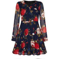 Mela Loves London Rose Printed Dress ($23) ❤ liked on Polyvore