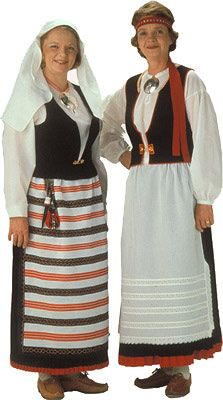 Jääsken naisen kansallispuku. Kuva © Helmi Vuorelma Oy Folk Costume, Costumes, Historical Clothing, Traditional Dresses, Lace Skirt, Nostalgia, Helmet, Dresses For Work, Skirts