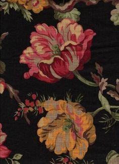 Bloomsbury Black - www.BeautifulFabric.com - upholstery/drapery fabric - decorator/designer fabric