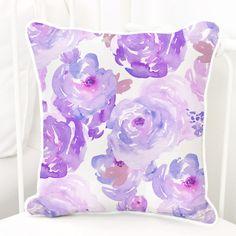 purple petal party bumperless crib bedding