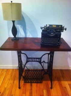 Singer Sewing Machine Side Table on Etsy, $275.00 @Betsy Buttram Joyner