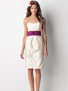Antik zeitlos einfach trägerlos Mantel Brautjungfer Kleid mit versteckt Knielanges Rock #wedding dress #short #sleeveless #simple #elegant