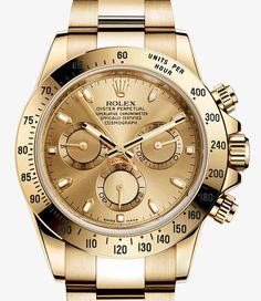 Rolex Cosmograph Daytona Watch: 18 ct yellow gold - 40mm  -116528