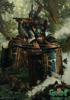 View an image titled 'Impera Enforcers Art' in our Gwent: The Witcher Card Game art gallery featuring official character designs, concept art, and promo pictures. High Fantasy, Fantasy Rpg, Medieval Fantasy, Fantasy World, Armadura Medieval, Witcher Art, The Witcher, Warhammer Fantasy, Fantasy Artwork