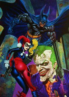 Batman, Harley Quinn, The Joker