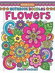 Adult Coloring Books - Notebook Doodles Flowers Coloring Book