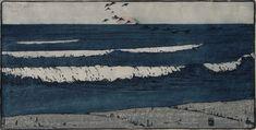 Bror Julius Olsson NORDFELDT(American, 1878-1955) The Long Wave  1903  color woodcut on laid paper