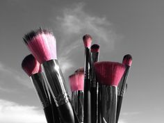 Midnight Lace Synthetic Makeup Brushes www.sedonalace.com #midnightlace #makeupbrushes