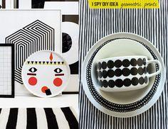 DIY INSPIRATION | Geometric Prints - I Spy DIY