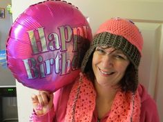 Birthday girl with her cupcake hat and scarf x