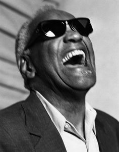 "The only man that looks good with a ""soul patch""- Ray Charles, New York City, 1992. Photo by Bruce Weber."
